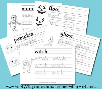 Halloween Handwriting Worksheets