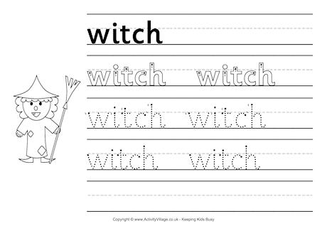 Printable Halloween Handwriting Worksheets For Kids