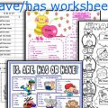 Has And Have Worksheets For Kids