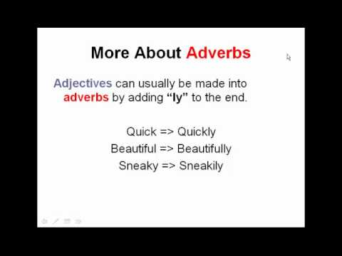 Adverbs & Adjectives Worksheets, Tests, & Lessons