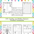 Writing Numbers 1 2 3 Worksheets