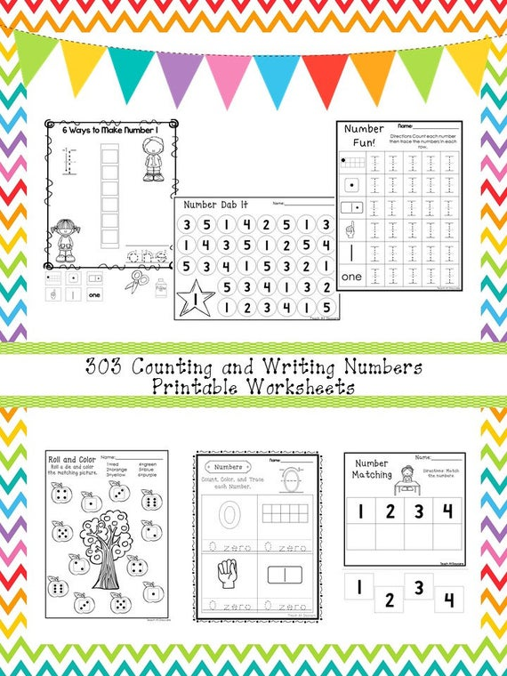 303 Counting And Writing Numbers Worksheets Download  Zip