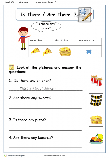 Is There Are There Worksheet – English Treasure Trove
