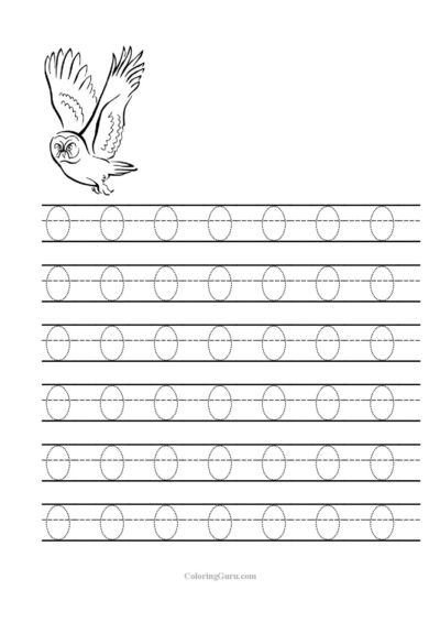 Free Printable Tracing Letter O Worksheets For Preschool   Free