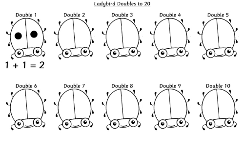 Doubles To 10 Worksheets