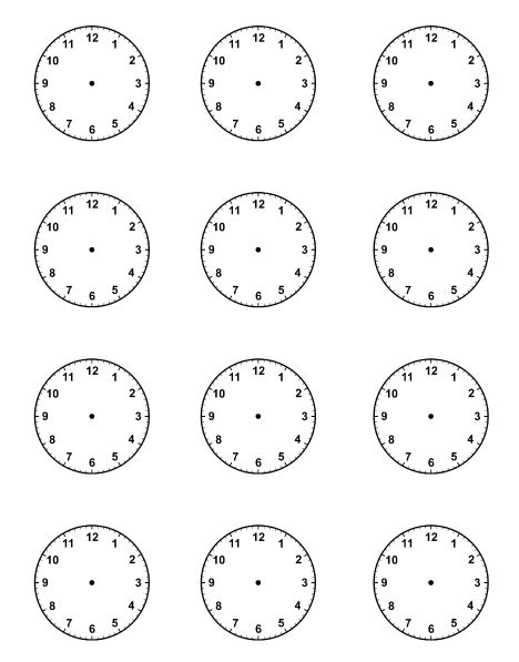 Free Blank Clock Face, Download Free Clip Art, Free Clip Art On