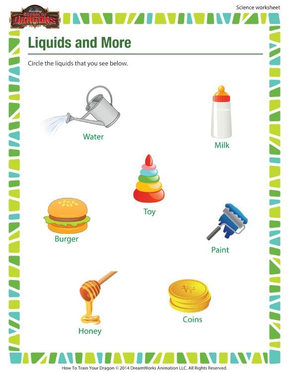 Liquids & More Worksheet