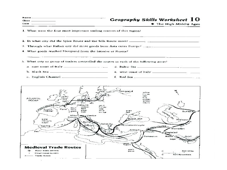 Map Skills Worksheets Middle School Pdf Map Worksheets For Middle
