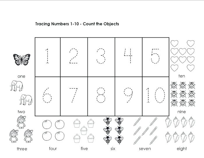 Math Worksheets Kindergarten Numbers 1 10 Numbers 1 Worksheets For