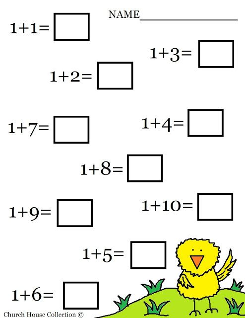 Maths Addition Worksheets Prek
