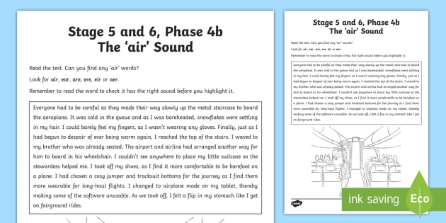 Air Sound Worksheet