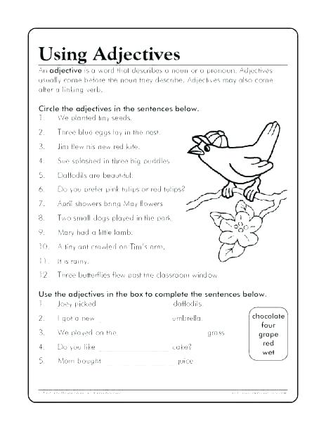 As Adjective As Worksheets – Odmartlifestyle Com