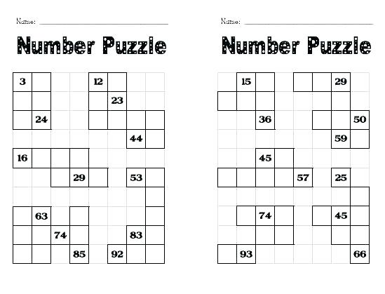 Number Grid Puzzles Worksheets Everyday Math Chart Puzzle Co