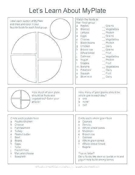 Nutrition Worksheets For High School Being Healthy Lunchbox