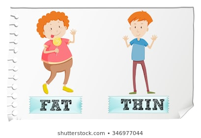 Opposite Fat Thin Images, Stock Photos & Vectors