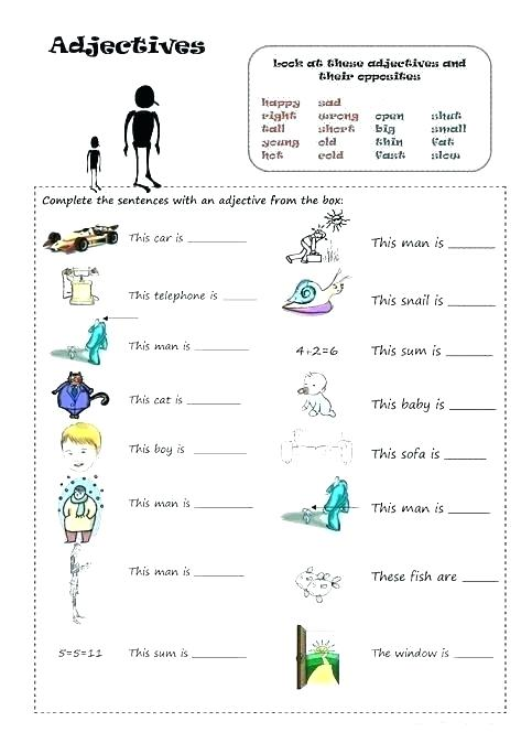 Opposites Worksheets For Grade 2 – Evolveprint Co