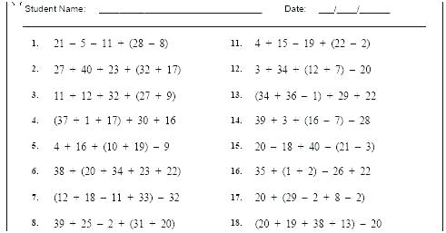 Mixed Operations With Decimals Worksheets – Odmartlifestyle Com