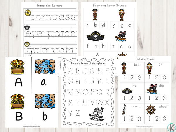 Free Pirate Worksheets For Kids – Kindergarten Worksheets And Games