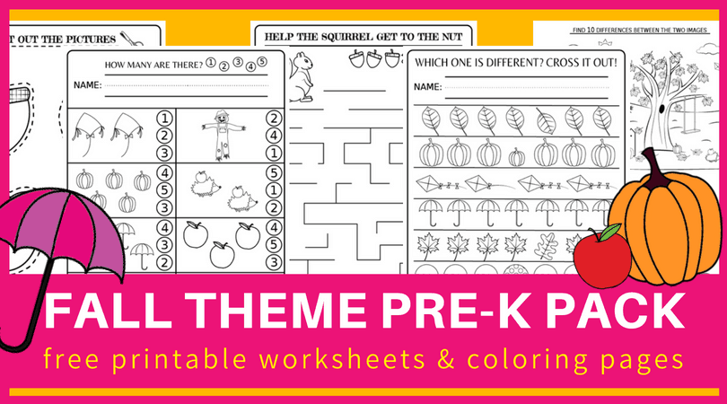 Preschool Worksheets And Activities For Fall Free Printable Pdf