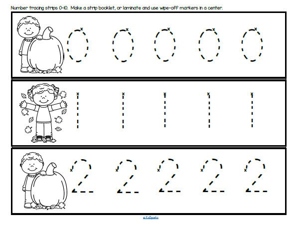 Preschool Tracing Numbers 1 10 Worksheets