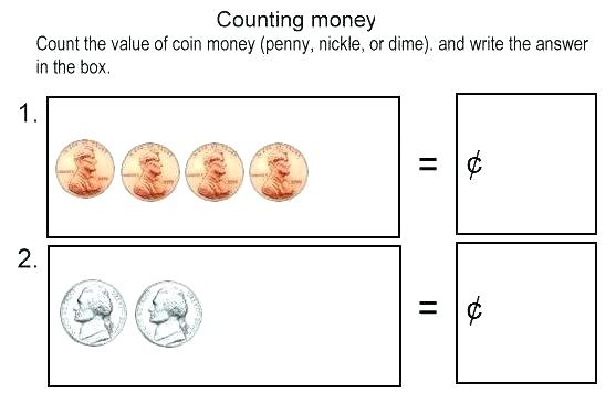 Counting Money Worksheets Counting Money Worksheets For Counting