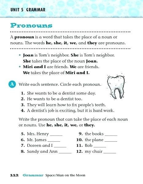 Pronouns Free Language Stuff Worksheets Workday Pronouns He She It
