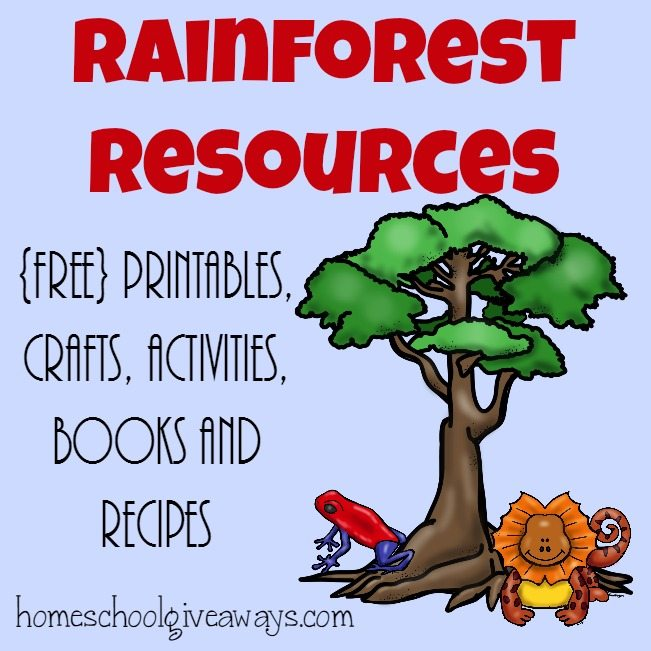 Rainforest Resources ~ Printables, Activities, Recipes & More