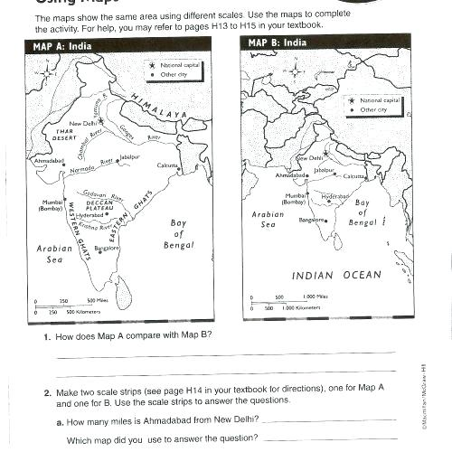 Using A Map Scale Worksheets – Katyphotoart Com
