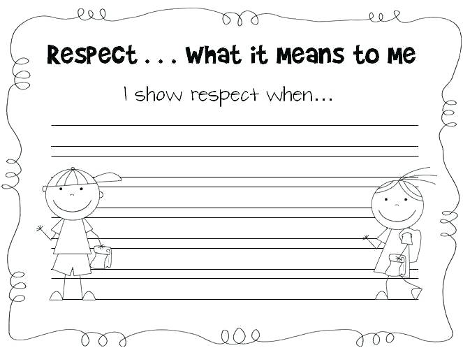 Respect Worksheets For Elementary Students Character Educa