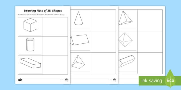 3d Shape Nets Pdf Worksheet