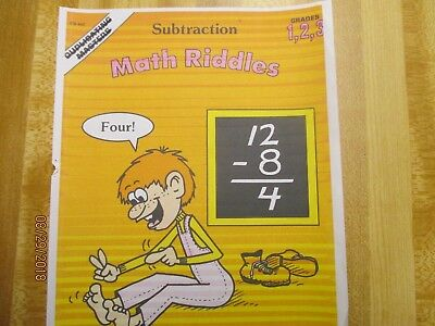 Math Riddles Subtraction ,grades 1,2,3 Worksheets (frank Schaffer