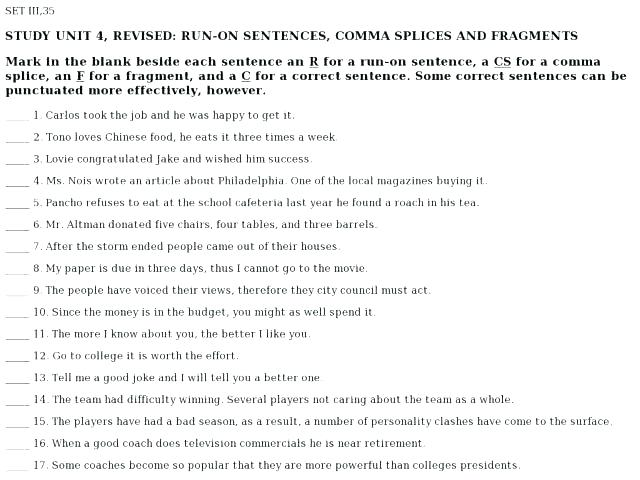 Sentence Fragment Exercises Sentence Fragment Worksheets Middle