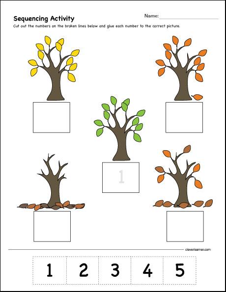 Sequencing Activities For Kindergarten Worksheets