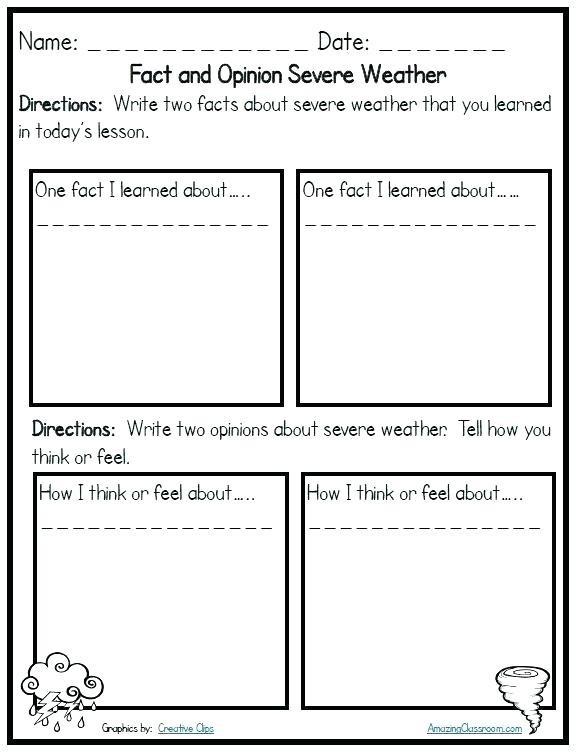 Severe Weather Lesson Plans Grade Weather Worksheets For Grade