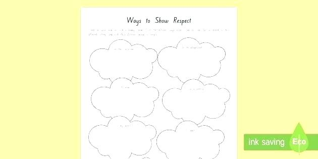 Showi Respect Worksheets For Middle School Free Preschool Grade