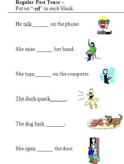 Simple Verb Worksheets Worksheet Past Tense With Answers I On