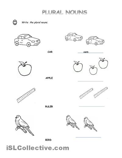Pictures English Grammar Noun Worksheets,