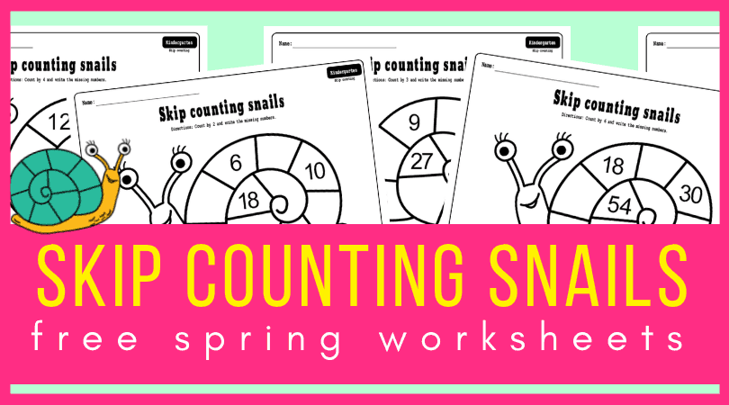Skip Counting Snails Worksheets Worksheets For Your Spring Math