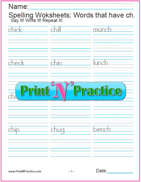 44+ Phonics Worksheets ⭐ Practice Phonics Words Copywork