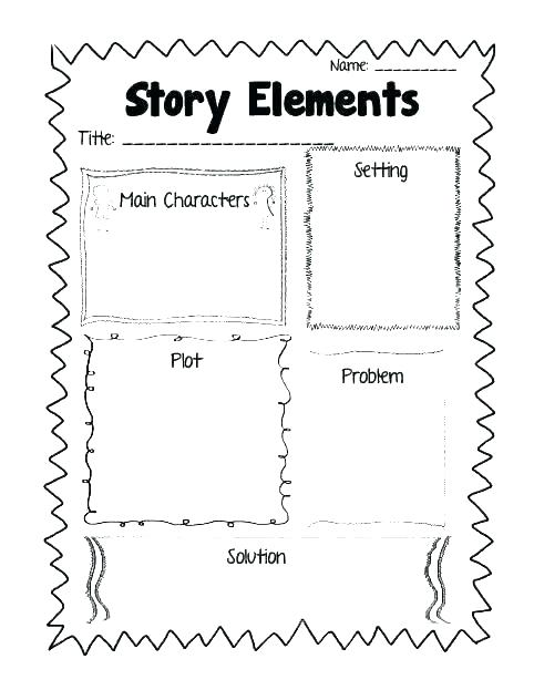Story Plot Worksheets Main Idea Worksheets Grade Best 5 Character