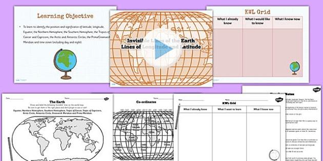 Lines Of Latitude And Longitude Teaching Pack