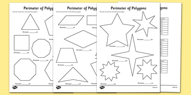 Perimeter Of Polygons Worksheets