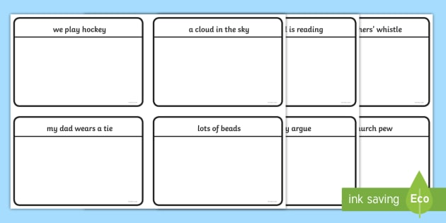 Phase 5 Caption Cards Read And Draw Worksheet   Worksheets