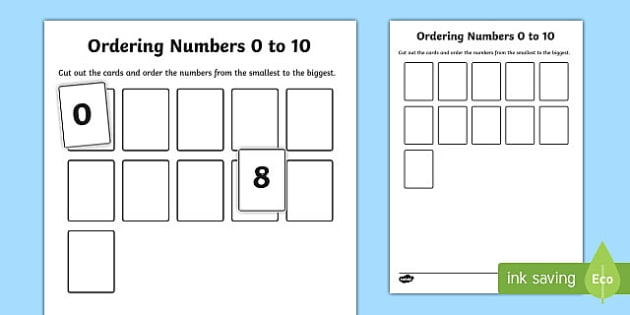 Ordering Numbers 0 To 10 Activity, Ordering Objects And Numbers
