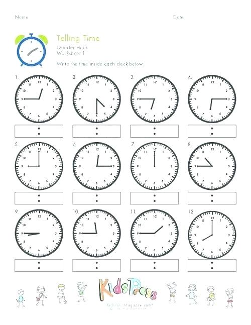 Telling Time Worksheets 2nd Grade – Uasporting Com