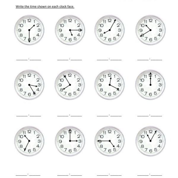 Third Grade Reading Clocks Worksheet 05 – One Page Worksheets
