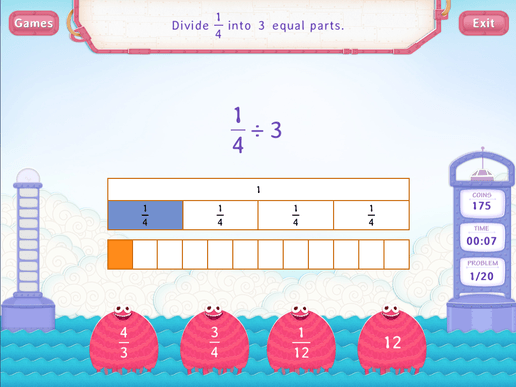 Divide Unit Fractions By Whole Number