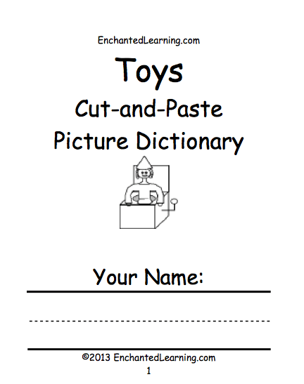 Toy Theme Page At Enchantedlearning Com