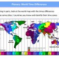 Free Time Zone Worksheets