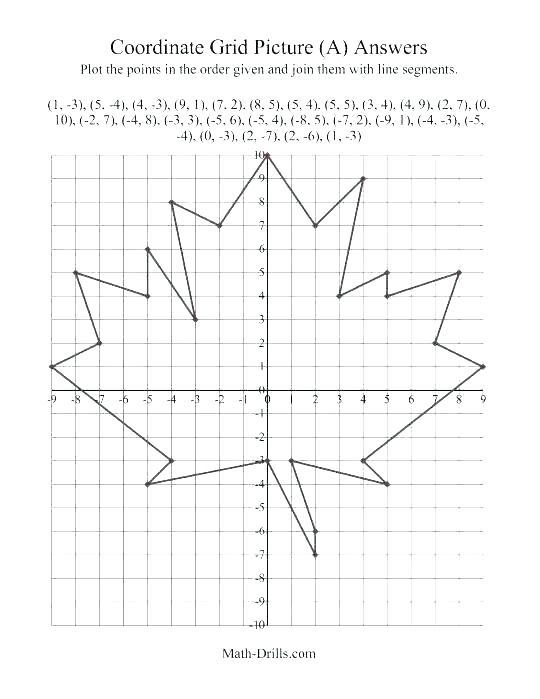 Worksheets Work Diamond Math Problems Coordinate Art Worksheets